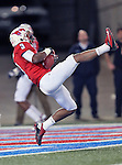 Southern Methodist Mustangs wide receiver Darius Johnson (3) in action during the game between the University of Houston Cougars and the Southern Methodist Mustangs at the Gerald J. Ford Stadium in Dallas, Texas. SMU leads Houston 28 to 14 at halftime...