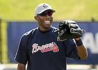 May 9, 2008: Outfielder Carlos Lee (28) of the Rome Braves, Class A affiliate of the Atlanta Braves, prior to a game against the Greenville Drive at Fluor Field at the West End in Greenville, S.C.   Photo by:  Tom Priddy/Four Seam Images