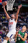 Real Madrid's player Sergio Llull, and Unicaja Malaga's player Nemanja Nedovic during match of Liga Endesa at Barclaycard Center in Madrid. September 30, Spain. 2016. (ALTERPHOTOS/BorjaB.Hojas)
