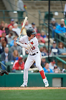 Rochester Red Wings Brent Rooker (19) at bat during an International League game against the Charlotte Knights on June 16, 2019 at Frontier Field in Rochester, New York.  Rochester defeated Charlotte 3-2 in the second game of a doubleheader.  (Mike Janes/Four Seam Images)