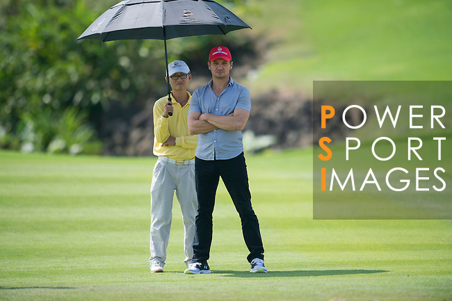 Jeremy Renner during the World Celebrity Pro-Am 2016 Mission Hills China Golf Tournament on 22 October 2016, in Haikou, China. Photo by Marcio Machado / Power Sport Images