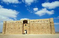 Qasr El Karaneh, a Muslim castle in the desert, Jordan.