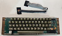BNPS.co.uk (01202 558833)<br /> Pic: RRAuction/BNPS<br /> <br /> Pictured: The keyboard.<br /> <br /> A fully-working Apple-1 computer has sold for £273,000.<br /> <br /> The pioneering machine is one of the 200 'motherboards' Apple founder Steve Jobs and his associate Steve Wozniak designed in 1976.<br />  <br /> Around 70 Apple-1 computers are known to exist today and of those less than 10 still work.
