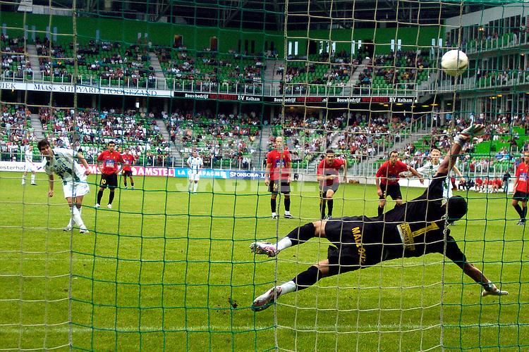 groningen - real mallorca voorbereiding seizoen 2007-2008 12-08-2007 vd laak benut strafschop 2-2