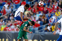 Action photo during the match Chile vs Bolivia at Gillette Stadium Copa America Centenario 2016. ---Foto  de accion durante el partido Chile vs Bolivia, En el Estadio Gillette, Partido Correspondiante al Grupo - D -  de la Copa America Centenario USA 2016, en la foto: (i)-(d) Jean Beausejour, Alejandro Melean<br /> <br /> --- 10/06/2016/MEXSPORT/PHOTOSPORT/ Andres Pina