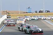 #19: Brandon Jones, Joe Gibbs Racing, Toyota Supra Juniper, #08: Gray Gaulding, SS Green Light Racing, Chevrolet Camaro