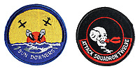 BNPS.co.uk (01202) 558833. <br /> Pic: PropStore/BNPS<br /> <br /> Pictured: A set of flight suit patches, worn by the cast, carry an estimate of £1,000. <br />  <br /> Costume props and behind-the-scenes photos from the classic Tom Cruise movie Top Gun are coming up for sale.<br /> <br /> The archive includes the white vest worn by Goose, the partner of Tom Cruise's character Pete 'Maverick' Mitchell, during the famous beach volleyball scene. <br /> <br /> There is also the flight suit worn by Maverick's Top Gun rival, Tom 'Iceman' Kazansky, played by Val Kilmer in the 1986 film.