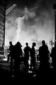 New York, New York <br /> September 2001<br /> <br /> Ground Zero smolders days after the attack.