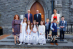 Pupils from Scoil Mhuire gan Smal after their First Holy Communion  in St Stephan and John church Castleisland on Saturday