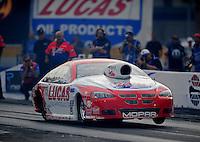 Oct. 31, 2008; Las Vegas, NV, USA: NHRA pro stock driver Larry Morgan during qualifying for the Las Vegas Nationals at The Strip in Las Vegas. Mandatory Credit: Mark J. Rebilas-