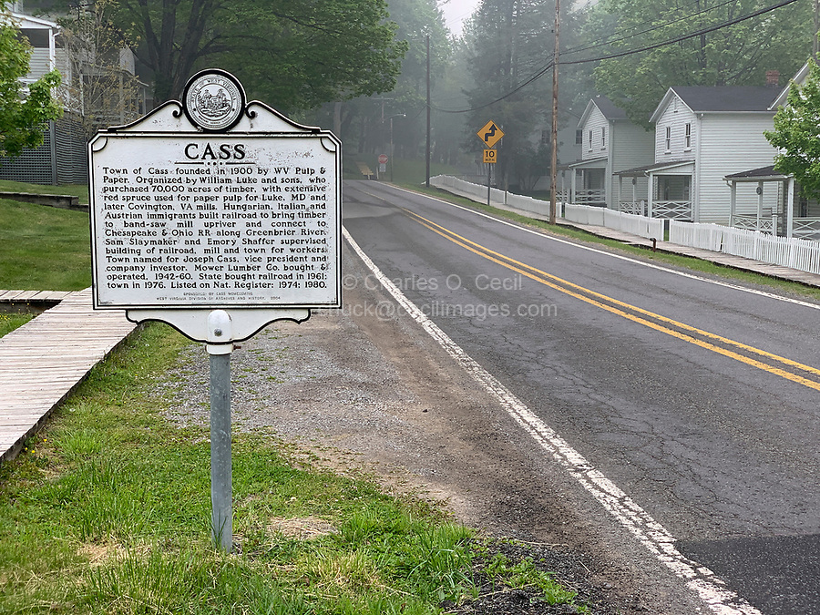 Cass, West Virginia, an Historic Early Twentieth Century Lumber Paper Mill Town.