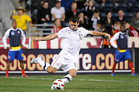Eric Lichaj (13) of the United States (USA). The men's national teams of the United States (USA) and Colombia (COL) played to a 0-0 tie during an international friendly at PPL Park in Chester, PA, on October 12, 2010.