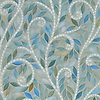 Climbing Vine, a handmade mosaic shown Aquamarine and Quartz jewel glass, is part of the Silk Road® collection by New Ravenna.