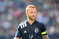 KANSAS CITY, KS - JUNE 26: Johnny Russell #7 Sporting KC during a game between Los Angeles FC and Sporting Kansas City at Children's Mercy Park on June 26, 2021 in Kansas City, Kansas.