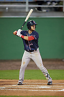 Salem Red Sox third baseman Michael Chavis (11) at bat during the second game of a doubleheader against the Potomac Nationals on May 13, 2017 at G. Richard Pfitzner Stadium in Woodbridge, Virginia.  Potomac defeated Salem 3-2.  (Mike Janes/Four Seam Images)