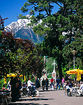 Italien, Suedtirol, Meran, Cafe an der Passerpromenade in der Altstadt | Italy, South-Tyrol, Alto Adige, Merano, Old Town, Passer Promenade, Cafe