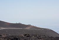 Der Vulkan Etna auf Sizilien.<br /> Der Etna ist einer der wenigen aktiven Vulkan in Europa.<br /> 24.7.2020, Parco dell'Etna<br /> Copyright: Christian-Ditsch.de