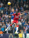 St Johnstone v Rangers…22.09.19   McDiarmid Park   SPFL<br />Sheyi Ojo and Liam Gordon<br />Picture by Graeme Hart.<br />Copyright Perthshire Picture Agency<br />Tel: 01738 623350  Mobile: 07990 594431