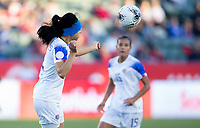 CARSON, CA - FEBRUARY 07: Mariana Benavides #4 of Costa Rica during a game between Canada and Costa Rica at Dignity Health Sports Complex on February 07, 2020 in Carson, California.