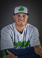 11 June 2019: Vermont Lake Monsters pitcher Clark Cota poses for a portrait on Photo Day at Centennial Field in Burlington, Vermont. The Lake Monsters are the Single-A minor league affiliate of the Oakland Athletics and play a short season in the NY Penn League Stedler Division. Mandatory Credit: Ed Wolfstein Photo *** RAW (NEF) Image File Available ***