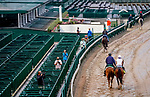 September 2, 2020: A handful of media members take photographs and video as horses prepare for the 2020 Kentucky Derby and Kentucky Oaks at Churchill Downs in Louisville, Kentucky. The race is being run without fans due to the coronavirus pandemic that has gripped the world and nation for much of the year. Scott Serio/Eclipse Sportswire/CSM