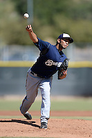Milwaukee Brewers pitcher Jorge Ortega (47) during an Instructional League game against the Los Angeles Angels on October 11, 2013 at Tempe Diablo Stadium Complex in Tempe, Arizona.  (Mike Janes/Four Seam Images)