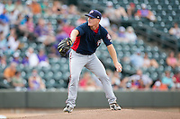 Potomac Nationals starting pitcher Matthew Crownover (13) in action against the Winston-Salem Dash at BB&T Ballpark on July 15, 2016 in Winston-Salem, North Carolina.  The Dash defeated the Nationals 10-4.  (Brian Westerholt/Four Seam Images)