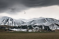 Castle Hill near Porters Pass in winter, Canterbury, New Zealand