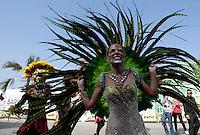 BARRANQUILLA-COLOMBIA- 26-02-2017: Stephanie Mendoza, reina 2017 del Carnaval, durante la Gran Parada, Desfile Tradición del carnaval 2017. Carnaval de Barranquilla 2017 invita a todos los colombianos a contagiarse del Jolgorio general de una de las festividades más importantes del país y que se lleva a cabo del 9 hasta el 28 de febrero de 2016. / Stephanie Mendoza, queen 2017 of Carnaval, during the Gran Parada, Tradicion parade of the Carnaval 2017. Carnaval de Barranquilla 2017 invites all Colombians to catch the general reverly that make it one of the most important festivals of the country and take place until February 28, 2017.   Photo: VizzorImage / Santiago Perez / Cont