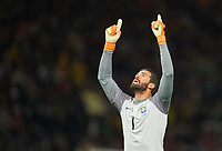 ALISSON, BRA 1jubel beim 0-1 Gabriel JESUS, BRA 9 DEUTSCHLAND - BRASILIEN 0-1 Testspiel zur WM Weltmeisterschaft Russland, Freundschaftsspiel, Deutsche Fussball Nationalmannschaft, DFB am 27.03.2018 in Berlin. *** ALISSON BRA 1jubel at 0 1 Gabriel JESUS \u200b\u200bBRA 9 GERMANY BRAZIL 0 1 Friendly Match to World Cup Russia World Cup Friendly Match German National Football Team DFB on 27 03 2018 in Berlin   <br /> Foto Insidefoto
