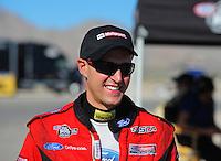 Oct. 30, 2011; Las Vegas, NV, USA: NHRA funny car driver Bob Tasca III during the Big O Tires Nationals at The Strip at Las Vegas Motor Speedway. Mandatory Credit: Mark J. Rebilas-