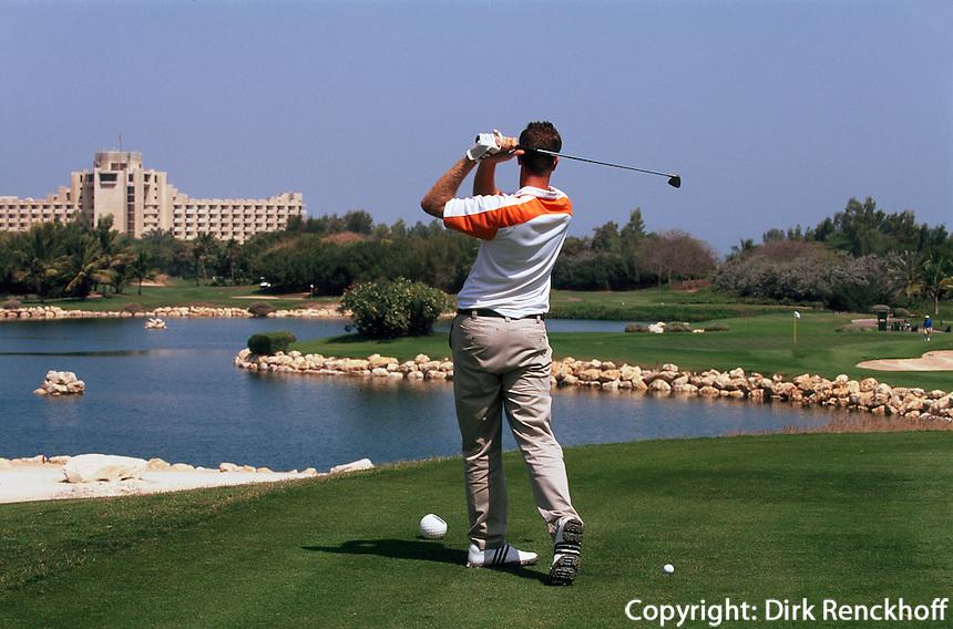 Vereinigte arabische Emirate (VAE, UAE), Dubai, Golf im Jebel Ali Golf Resort + Spa
