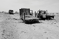 Abu Shakr, North Darfur, August 13, 2004.A military convoy was attacked and destroyed in March 2004 by SLA rebels.