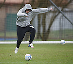 James Arthur X Factor winner showing his ball skillz at training with Rangers