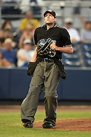 Home plate umpire Alex McKay during a game between the Bradenton Marauders and Charlotte Stone Crabs on April 4, 2014 at Charlotte Sports Park in Port Charlotte, Florida.  Bradenton defeated Charlotte 9-1.  (Mike Janes/Four Seam Images)