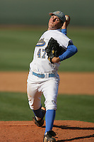 March 20, 2010: Trevor Bauer (47) of UCLA pitches against Oral Roberts at UCLA in Los Angeles,CA.  Photo by Larry Goren/Four Seam Images