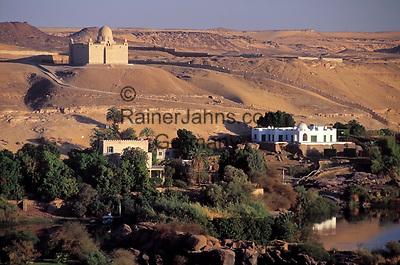 EGY, Aegypten, Assuan, das Aga Khan Mausoleum und die Villa der Begum | EGY, Egypt, Assuan: Aga Khan Mausoleum and Begum's Villa