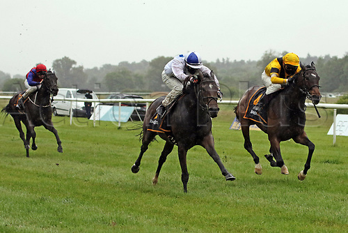23rd May 2020, Iffezheim, Baden-Wuerttemberg, Germany; Manganese middle with Marco Casamento wins atracecourse Baden Baden, Iffezheim