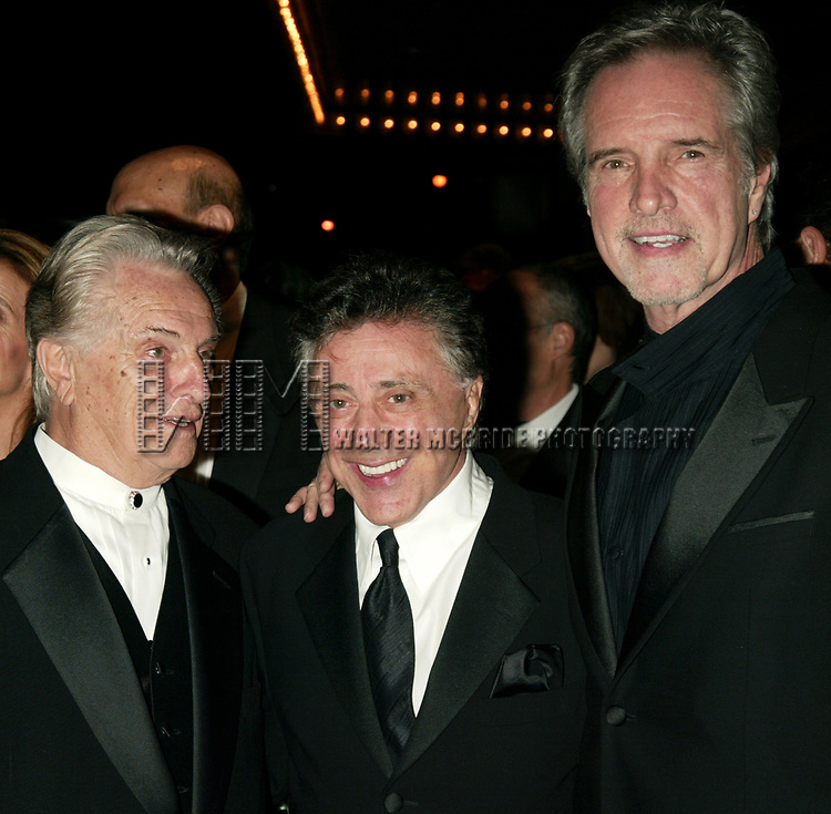 Tommy DeVito, Frankie Valli and Bob Gaudio<br />( THE FOUR SEASONS )<br />Attending the Opening Night Celebration for the New Broadway Musical JERSEY BOYS at the August Wilson Theatre in New York City.<br />The Evening is inspired by the the Lives and Musical Journey of Frankie Valli and the Four Seasons.<br />November 6, 2005