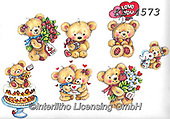 Interlitho-Theresa, VALENTINE, VALENTIN, paintings+++++,bears,KL4573,#v#, EVERYDAY ,sticker,stickers ,bear,bears