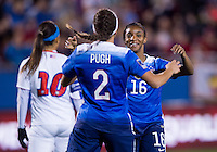 Frisco, TX - February 15, 2016: The USWNT defeated Puerto Rico 10-0 at the CONCACAF Women's Olympic Qualifying Tournament in Toyota Stadium.