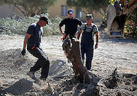 FAO JANET TOMLINSON, DAILY MAIL PICTURE DESK<br />Pictured: Special forensics police officers search a part of a field near a disused building in Kos, Greece. Saturday 01 October 2016<br />Re: Police teams led by South Yorkshire Police, searching for missing toddler Ben Needham on the Greek island of Kos have moved to a new area in the field they are searching.<br />Ben, from Sheffield, was 21 months old when he disappeared on 24 July 1991 during a family holiday.<br />Digging has begun at a new site after a fresh line of inquiry suggested he could have been crushed by a digger.
