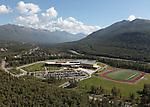 Eagle River High School, Eagle River, Alaska. Aerial photograph (2011).