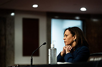 United States Senator Kamala Harris (Democrat of California) attends a US Senate Judiciary Committee business meeting to consider authorization for subpoenas relating to the Crossfire Hurricane investigation and other matters on Capitol Hill in Washington, DC on June 11, 2020. <br /> Credit: Erin Schaff / Pool via CNP/AdMedia