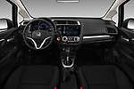 Stock photo of straight dashboard view of a 2018 Honda Jazz Exclusive 5 Door Hatchback