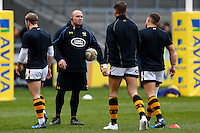Photo: Richard Lane/Richard Lane Photography. Sale Sharks v Wasps. Aviva Premiership. 19/02/2017. Wasps' Strength and Conditioning coach Dan Baugh in action during the warm up.