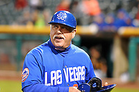 Las Vegas 51s manager Wally Backman (6) during the game against the Salt Lake Bees in Pacific Coast League action at Smith's Ballpark on May 8, 2014 in Salt Lake City, Utah.  (Stephen Smith/Four Seam Images)