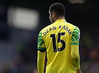 2nd October 2021;  Turf Moor, Burnley, Lancashire, England; Premier League football, Burnley versus Norwich City: Ozan Kabak of Norwich City