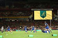 17th July 2021; Brisbane, Australia;  France warm up during the Australia versus France, 3rd Rugby Test at Suncorp Stadium, Brisbane, Australia on Saturday 17th July 2021.