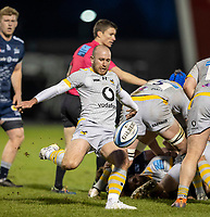 27th December 2020; AJ Bell Stadium, Salford, Lancashire, England; English Premiership Rugby, Sale Sharks versus Wasps; Dan Robson of Wasps clears the ball with his kick